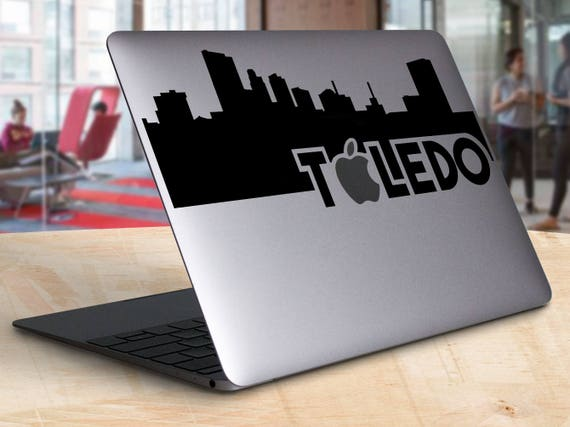 Toledo ohio skyline silhouette macbook decal laptop toledo