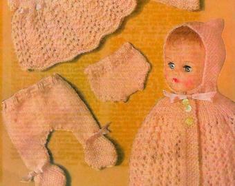 BESTWAY 3812 Vintage Doll Knitting Pattern Instant Download!