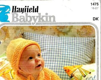 HAYFIELD 1475 Baby's Pram Set Vintage Knitting Pattern PDF Instant Download