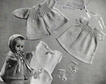 BELLMANS Vintage Doll Knitting Pattern Instant Download!