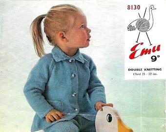 EMU 8130 Vintage Children's Knitting Pattern Instant Download