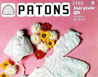 PATONS 2185 Baby Set Vintage Knitting Pattern PDF Instant Download