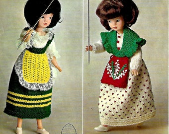 PATONS 9897 Doll Vintage Knitting Pattern PDF Instant Download