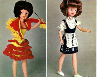 PATONS 9828 Vintage Doll Knitting Pattern PDF Instant Download