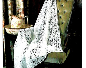 c4013346a28 PETER PAN P882 Vintage Heirloom Baby Shawl Crochet Pattern Instant Download