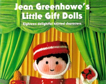 JEAN GREENHOWE Little Gift Dolls Original Toy/Doll New Knitting Pattern Book
