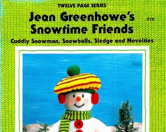 JEAN GREENHOWE Snowtime Friends Original Toy/Doll New Knitting Pattern Book