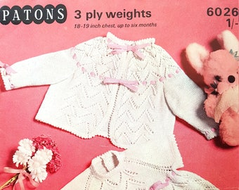 PATONS 6026 Vintage Baby Knitting Pattern