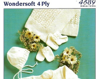 131f7786e STYLECRAFT 4108 Baby Set Original Knitting Pattern Instant