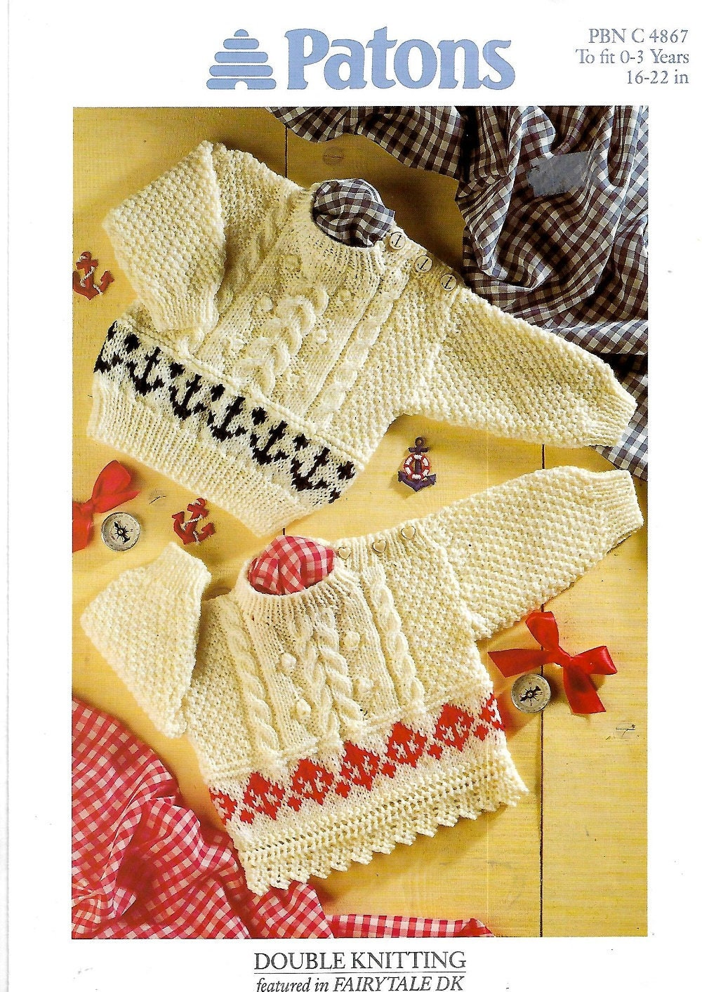 6c7344d87eb4 PATONS 4867 Baby sweaters New Knitting Pattern PDF Instant