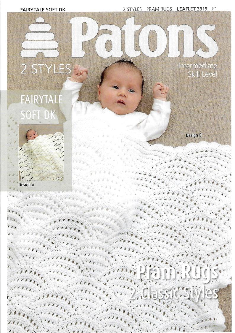 0f981ba7d2ff PATONS 3919 Baby Pram Covers Brand New Knitting Pattern PDF