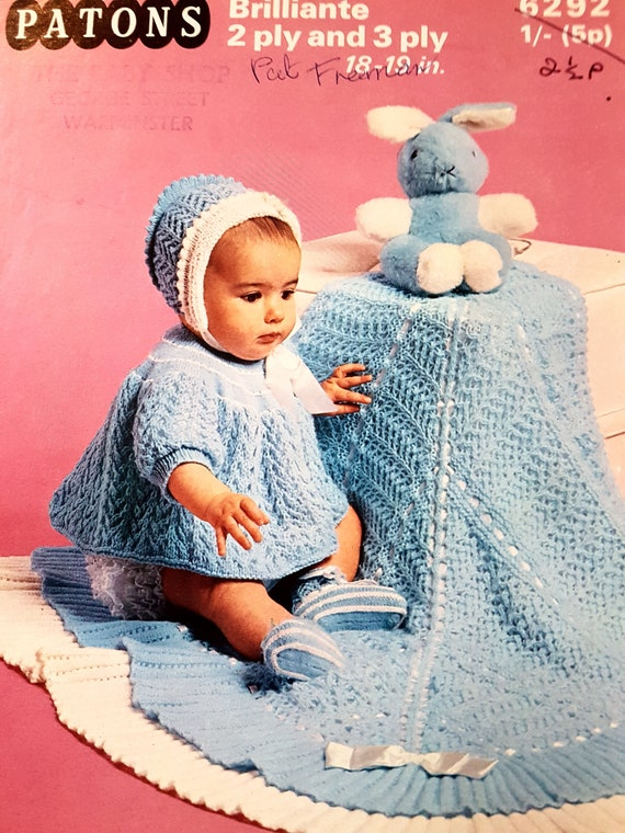 Patons 6292 Vintage Baby Knitting Pattern Instant Download Etsy