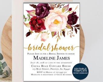 Wedding Invitations Etsy NZ - Fall wedding invitation templates