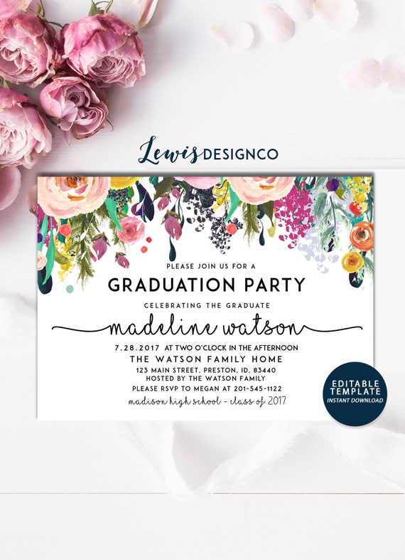 Graduation party invitation high school graduation invite etsy image 0 filmwisefo