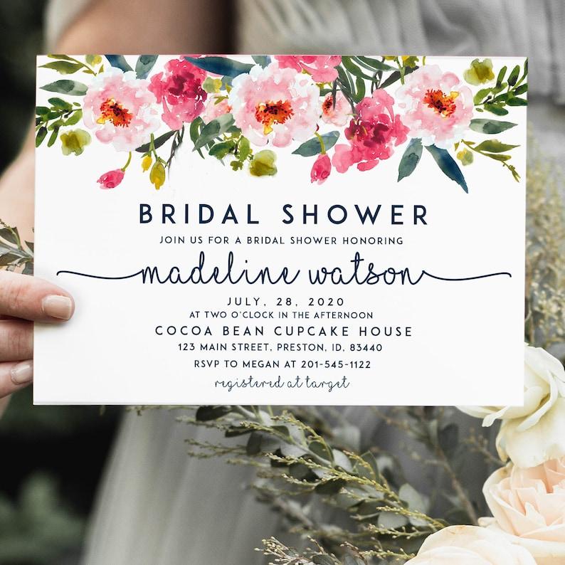 Bridal Shower Invitation Template Instant Download Bride image 0