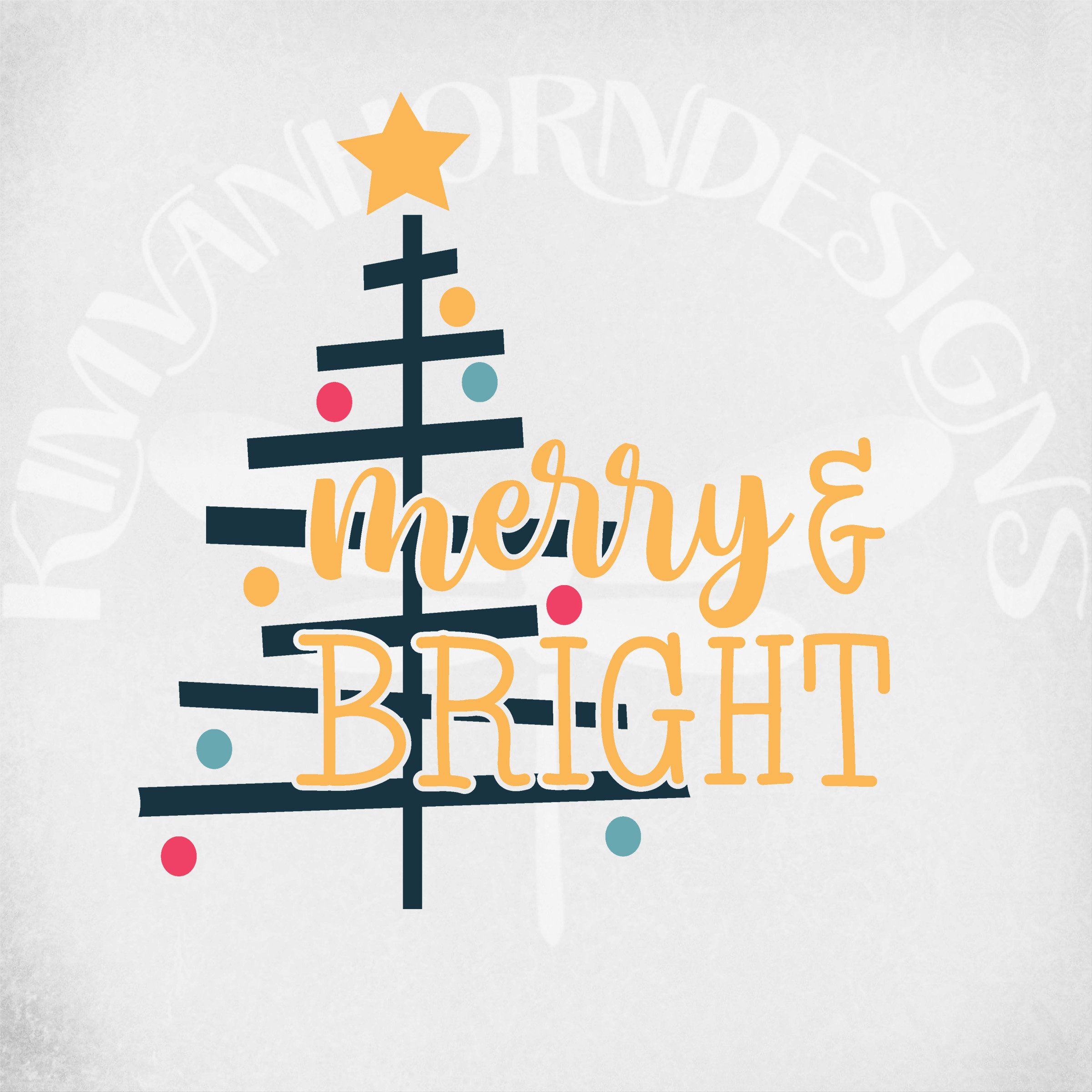 Merry Bright Svg Dxf Png And Printable Jpeg For Iron On Etsy