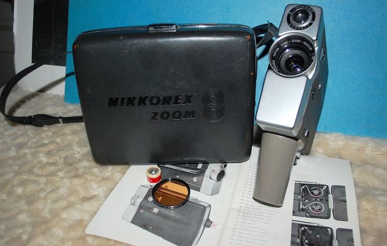 1963 Nikkorex Zoom-8 Camera wOrig Case Cine History!!