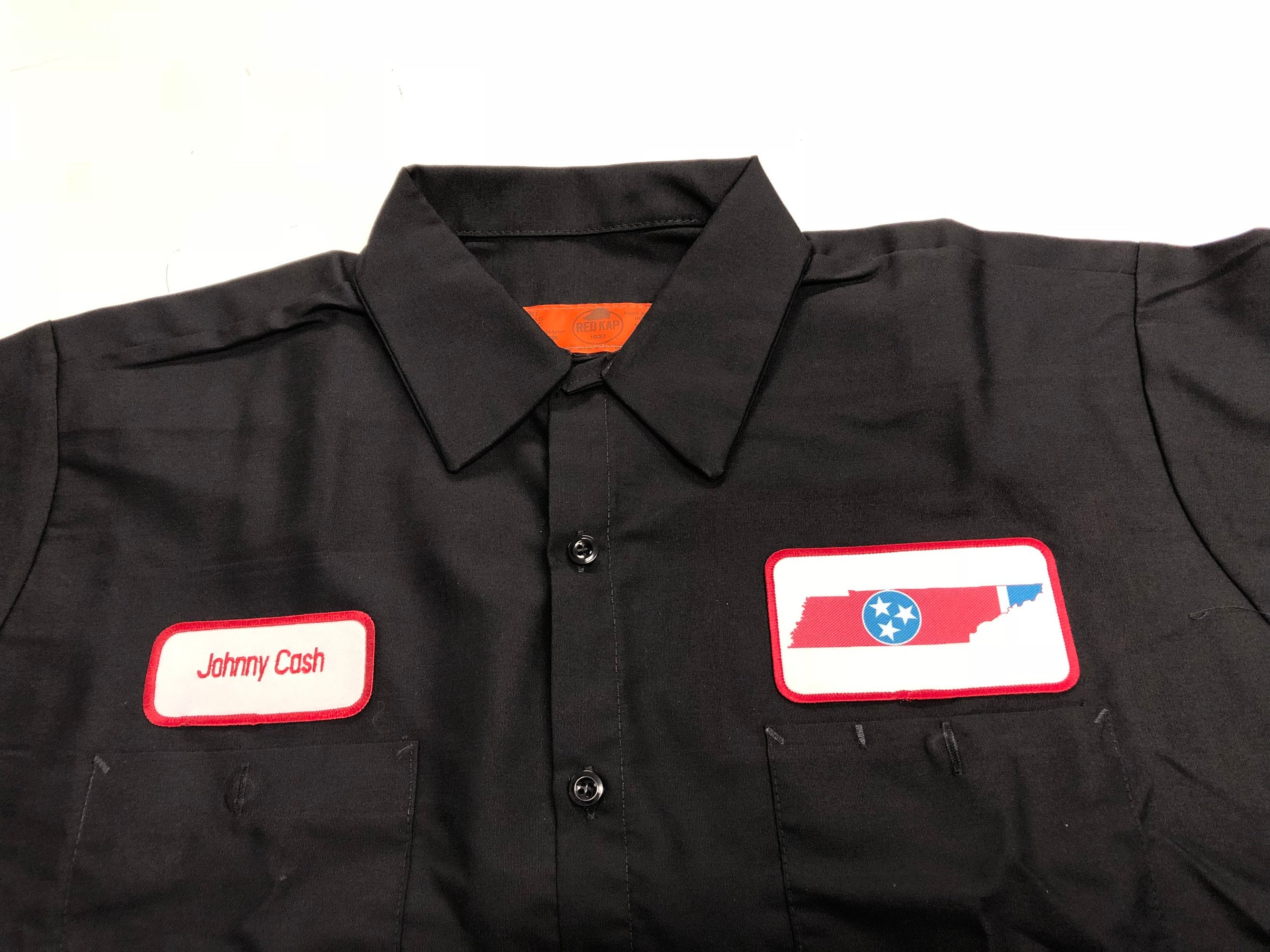 Johnny Cash Tennessee State Flag Logo Work Shirt Etsy