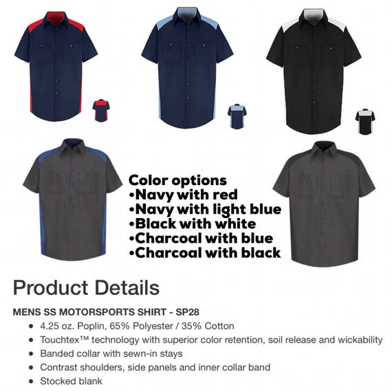 Two Tone Custom Work Shirts Customized With Your Logo And Etsy
