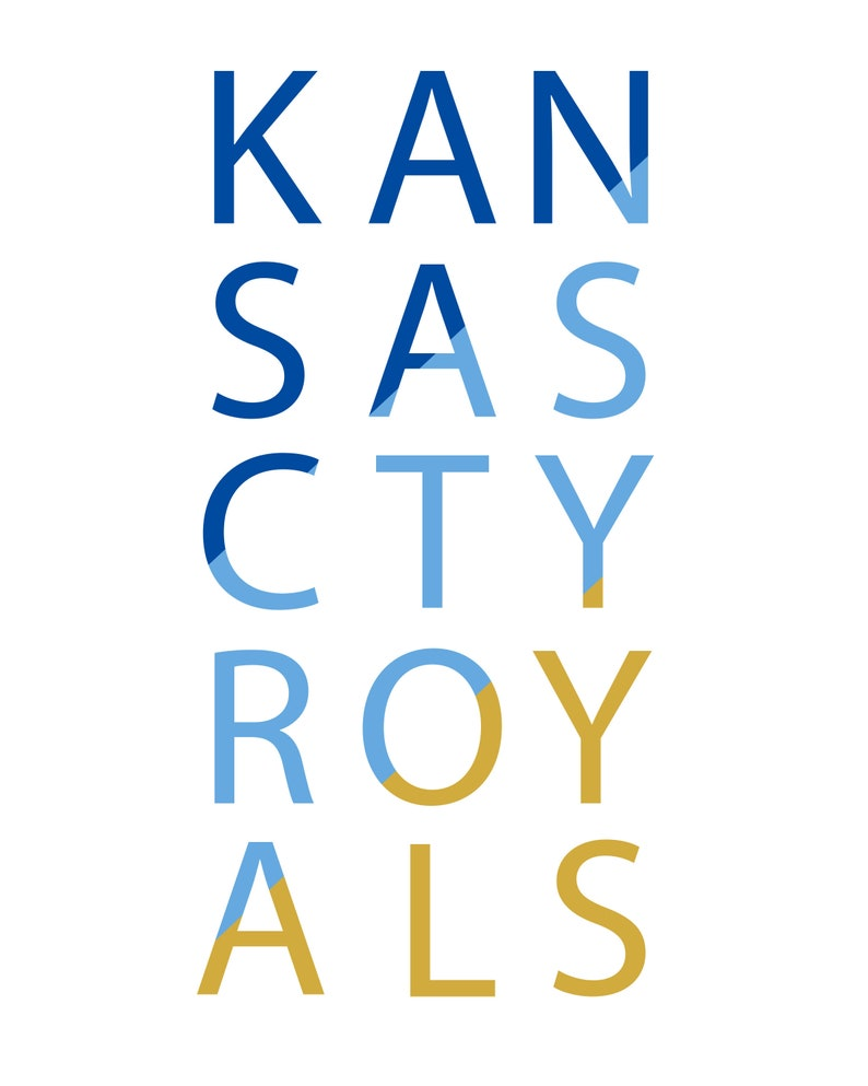 image relating to Kc Royals Schedule Printable known as Printable Kansas Metropolis Royals Print - 8x10