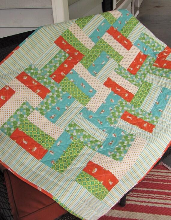 Baby Boy Quilt Courtepointe Moderne Decor De Nurserie Quilt Gris
