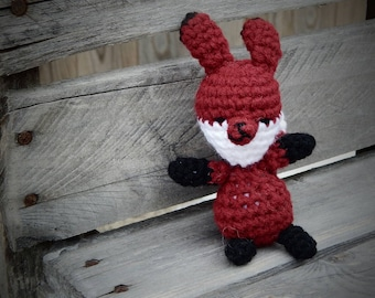 Little Stuffed Fox; Crocheted Red Fox; Sly Little Fox; Handmade Baby Fox; Red Fox; Gift for Her; Gift for Him; Ready to Ship