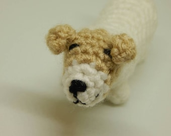 Jack Russell Terrier; Stuffed Baby Puppy; Handmade Miniature Terrier; Crocheted Puppy; Valentine's Day Gift; Gift for Her; Ready to Ship
