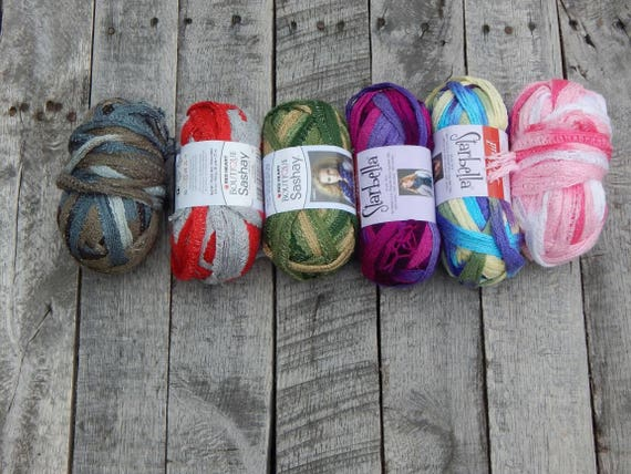 Sale! Lot of 6 Sashay Yarn Skeins; New Sashay Scarf yarn; Twirly ...