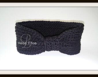 Crocheted Turban Headband/Earwarmer