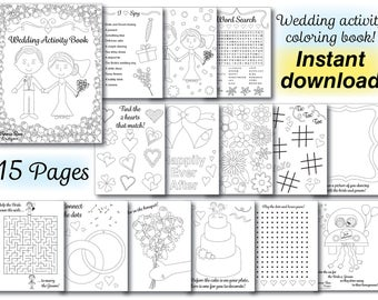 image relating to Wedding Coloring Book Printable known as Wedding ceremony coloring Etsy