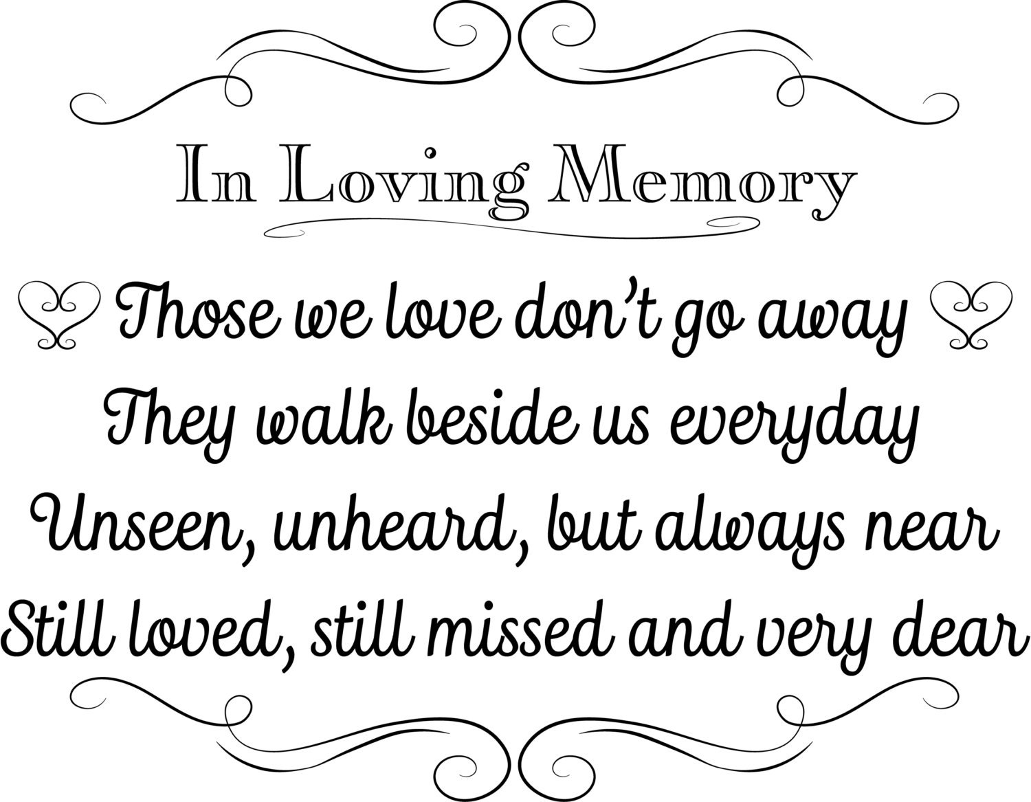 printable wedding sign in loving memory instant download 3 etsy