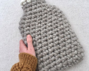 Soft Oatmeal Grey Bluefaced Leicester- British Wool Hotwater Bottle Cover - 2L - Woollen - Woolly - Eco Gift
