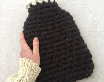 Natural Black Shetland Wool Hotwater Bottle Cover - 2ltr