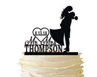 Groom Lifting Bride - Personalized with Name and Date - Standard Acrylic - Wedding - Anniversary - 129
