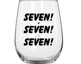 DIY Decal Kit With Your Choice Of Glass - Seven! Seven! Seven! - Friends TV Show