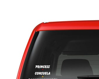 Princess Consuela Bananahammock - Car Window - Laptop - Tablet  - Office - Friends TV Show - Phoebe Buffay - 025