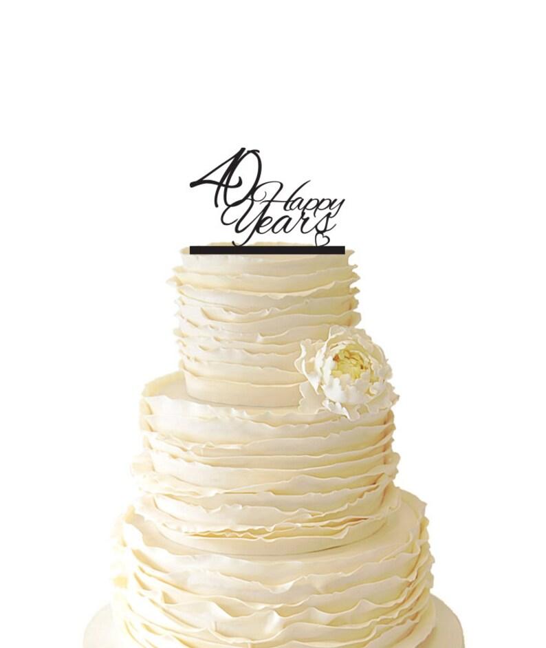 40 Anni Di Felici Matrimonio Anniversario 40 Anni Acrilico Etsy