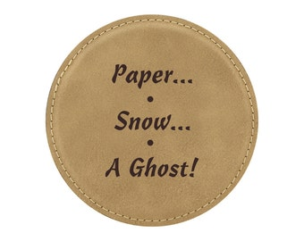 Paper...Snow...A Ghost! - Drink Coaster - Friends TV Show Theme - 1 Coaster - Item 09