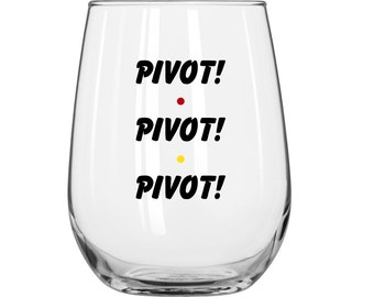DIY Decal Kit With Your Choice Of Glass - Pivot! Pivot! Pivot! - Friends TV Show
