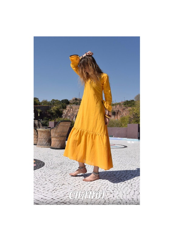 dress summer neanderthal India boho chic freepeople style gypsy tribal bellydance hippie gothic Casual Midi Dress Sustainable Gifts ethnic