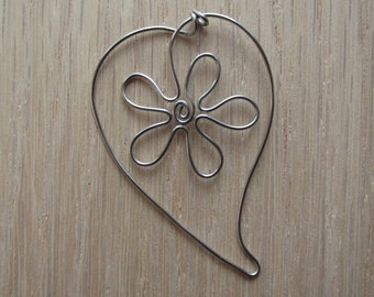 Stainless Steel Floral Bookmark