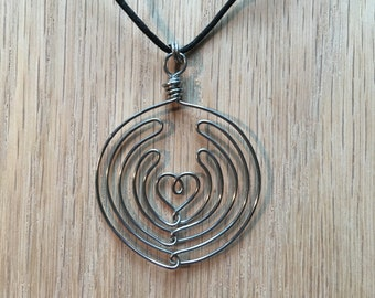 Specialty Coffee Art: Latte H'Art Wire Necklace, Stainless Steel
