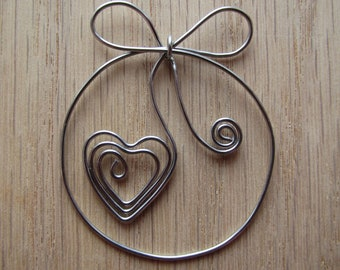 Stainless Steel Pretty Bow Bookmark