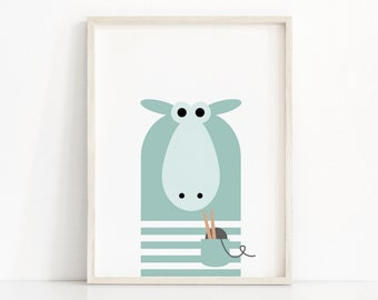 Digital Download Nursery Print, Kids Print, Instant Download Printable Nursery Wall Art, Sheep Kids Art, Modern Nursery Decor, Animal Print