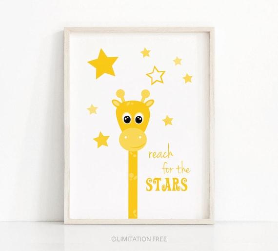 Sandalwood Frame Dream Big Giraffe Nursery Baby Shower Gift Home Decor Framed Art Picture