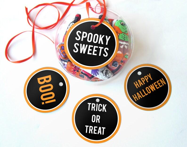 Printable Halloween Tags Halloween Printables Instant image 1