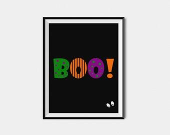 Halloween Printable Decor, Boo Sign, Halloween Print, Digital Download, Halloween Decor