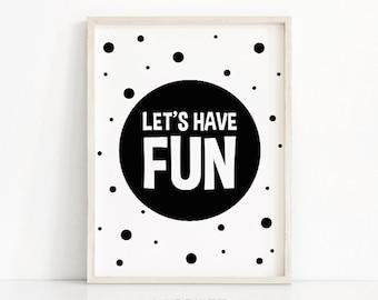 Monochrome Nursery Print, Digital Download, Nursery Wall Art, Instant Download Printable Nursery Art, Black White Kids Print, Playroom Decor