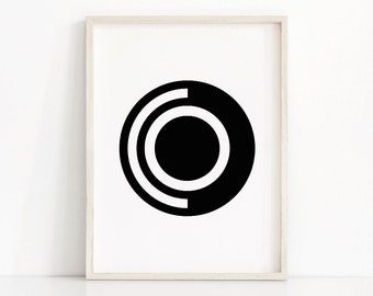 Geometric Art Print, Printable Art, Black And White Wall Art, Digital Download Art, Modern Art Print, Digital Art, Monochrome Home Decor