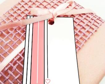 Printable love gift tags, printable tags, heart gift tags, favor tags, editable tags